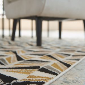 Jaela - Black/Gold/White - Medium Rug 1