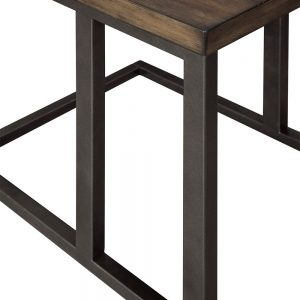 Johurst - Grayish Brown/Black - Chair Side End Table 1