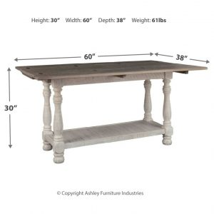Havalance - Gray/White - Flip Top Sofa Table 1