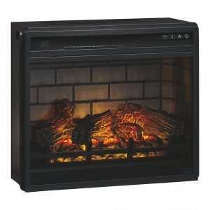 Entertainment Accessories - Black - Fireplace Insert Infrared