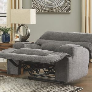 Coombs - Charcoal - Wide Seat Power Recliner 1