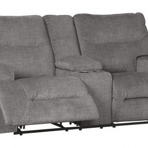 Coombs - Charcoal - DBL Rec Loveseat w/Console 1