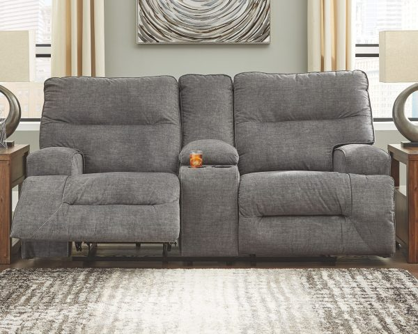 Coombs - Charcoal - DBL REC PWR Loveseat w/Console 2