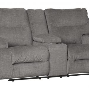 Coombs - Charcoal - DBL REC PWR Loveseat w/Console