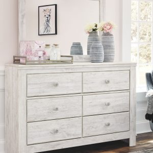 Paxberry - Whitewash - Dresser & Mirror