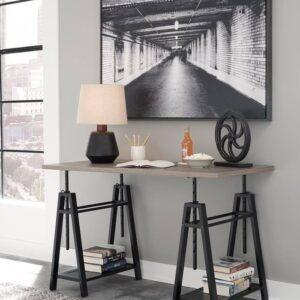 Irene - Gray - Adjustable Height Desk