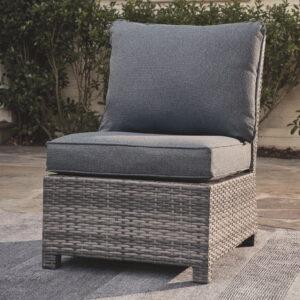 Salem Beach - Gray - Armless Chair w/Cushion (1/CN) 1