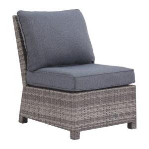 Salem Beach - Gray - Armless Chair w/Cushion (1/CN)