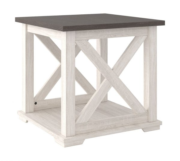 Dorrinson - Two-tone - Square End Table 1
