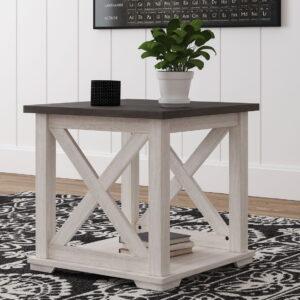 Dorrinson - Two-tone - Square End Table