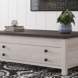 Dorrinson - Two-tone - Rect Lift Top Cocktail Table