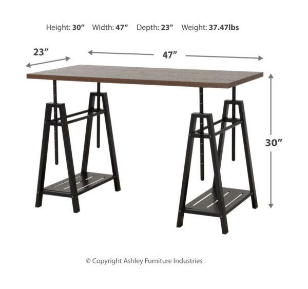 Irene - Dark Brown - Adjustable Height Desk 2