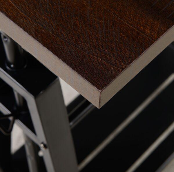 Irene - Dark Brown - Adjustable Height Desk 3