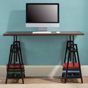 Irene - Dark Brown - Adjustable Height Desk