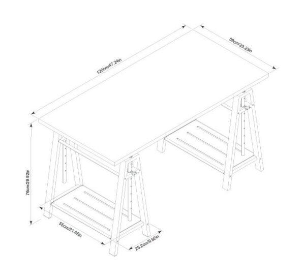 Irene - Dark Brown - Adjustable Height Desk 4