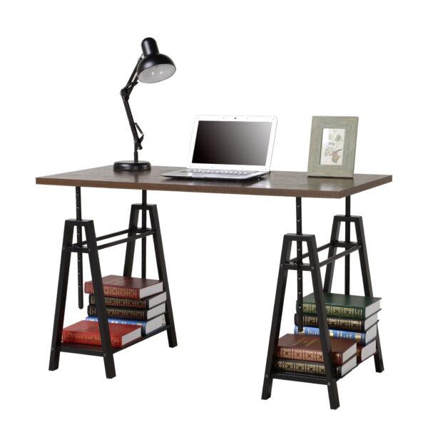 Irene - Dark Brown - Adjustable Height Desk 5