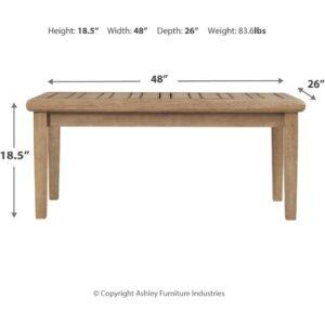 Gerianne - Grayish Brown - Rectangular Cocktail Table 1