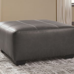 Aberton - Gray - Oversized Accent Ottoman 1