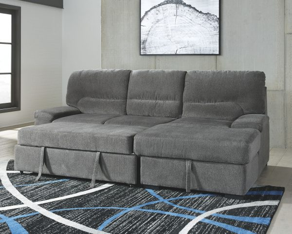 Yantis - Gray - LAF Sleeper Sectional with Storage 1
