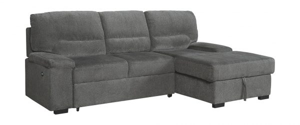Yantis - Gray - LAF Sleeper Sectional with Storage 3