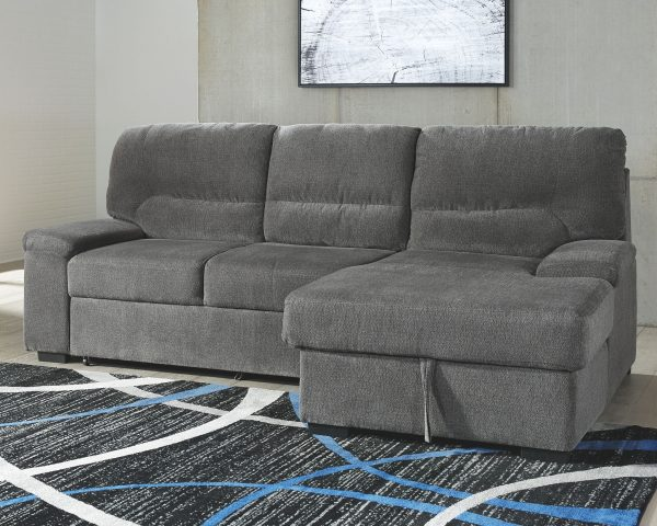 Yantis - Gray - LAF Sleeper Sectional with Storage