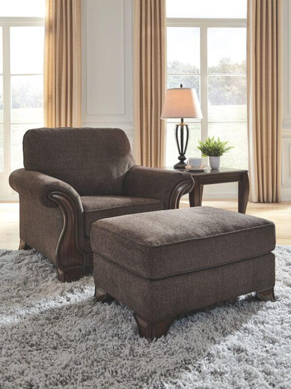Miltonwood - Teak - Chair with Ottoman