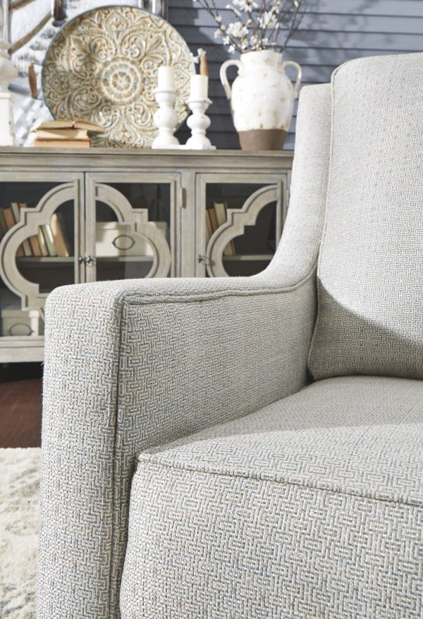 Kambria - Frost - Swivel Glider Accent Chair 1