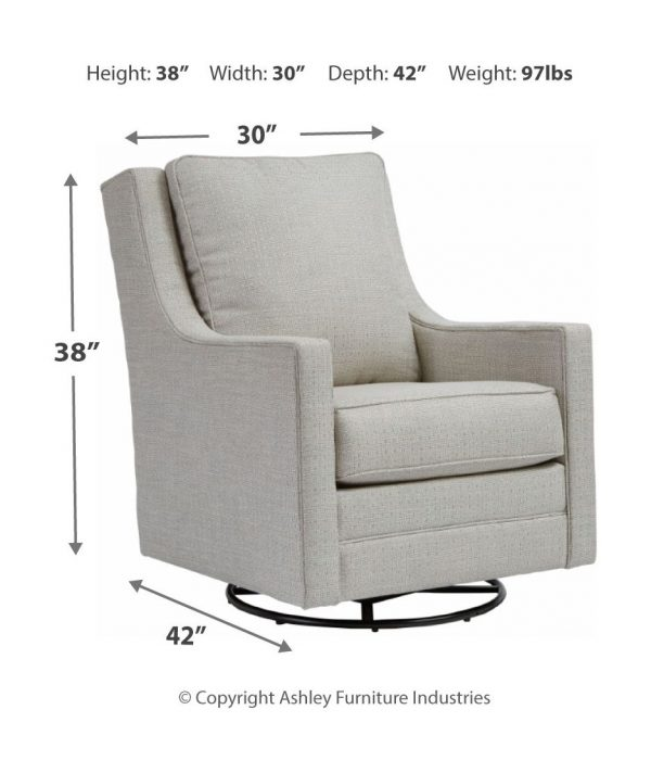 Kambria - Frost - Swivel Glider Accent Chair 2
