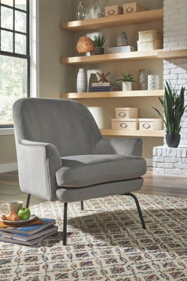 Dericka - Steel - Accent Chair