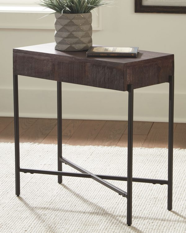 Matler - Grayish Brown - Accent Table 1