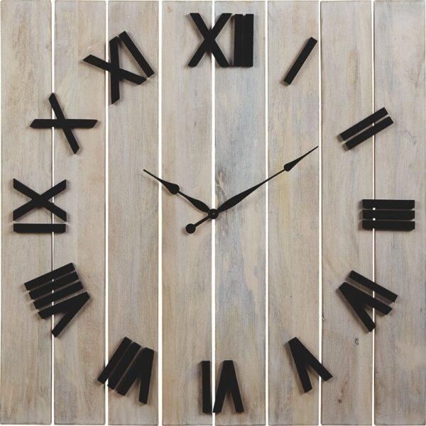 Bronson - Whitewash/Black - Wall Clock 1