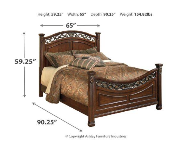 Leahlyn - Warm Brown - 5 Pc. - Dresser, Mirror & Queen Panel Bed 3