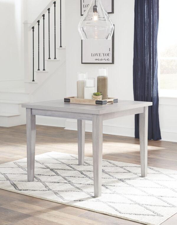 Loratti - Gray - Square Dining Room Table
