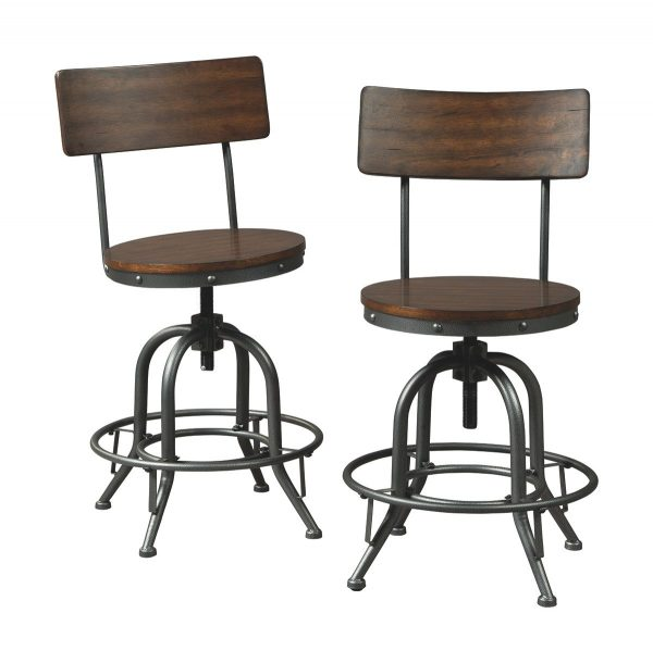 Odium - Brown - Swivel Barstool (2/CN) 1