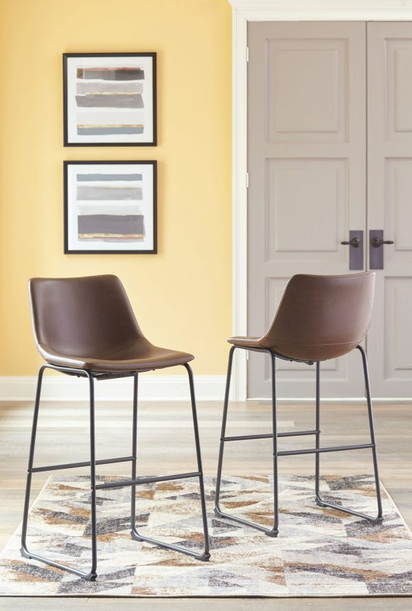 Centiar - Brown - Tall UPH Barstool (2/CN)