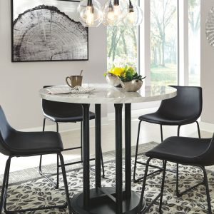 Centiar - Two-tone - 5 Pc. - DRM Table & 4 UPH Barstools 1