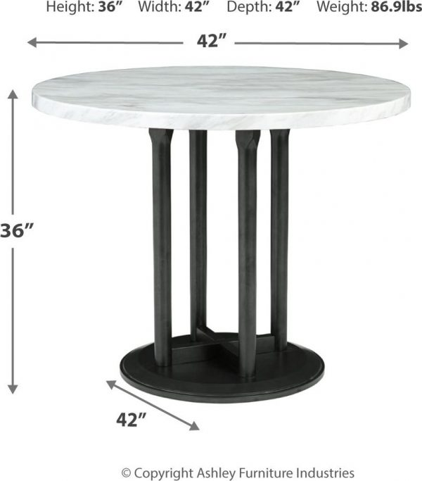 Centiar - Two-tone - 5 Pc. - DRM Table & 4 UPH Barstools 4
