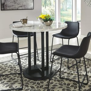 Centiar - Two-tone - 5 Pc. - DRM Table & 4 UPH Barstools