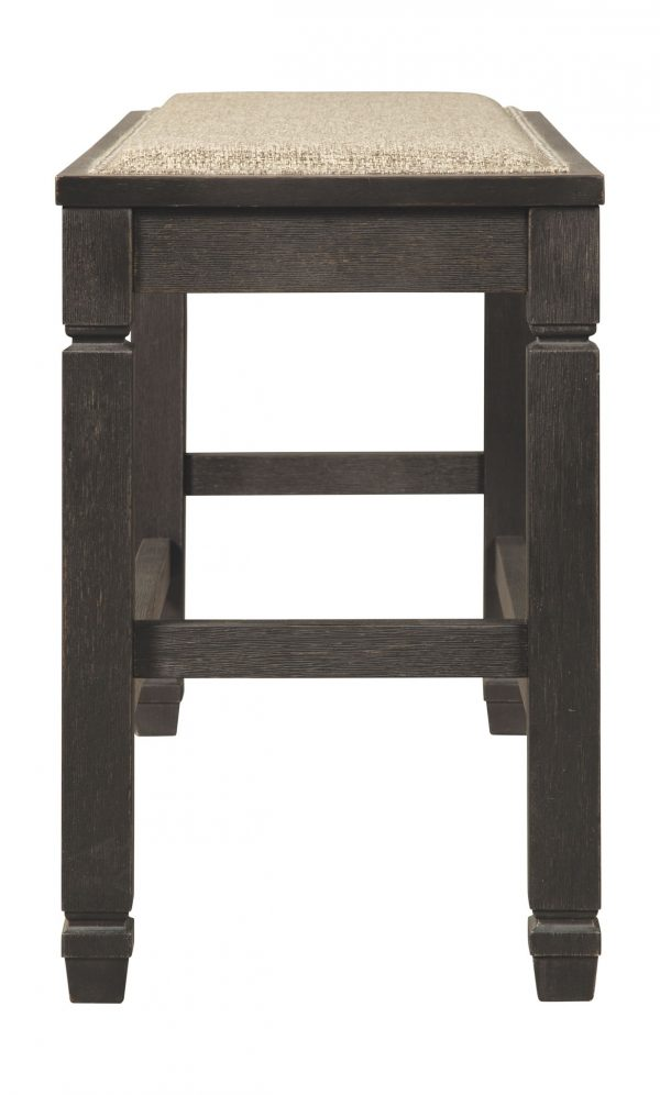 Tyler Creek - Antique Black - DBL Counter UPH Bench (1/CN) 2