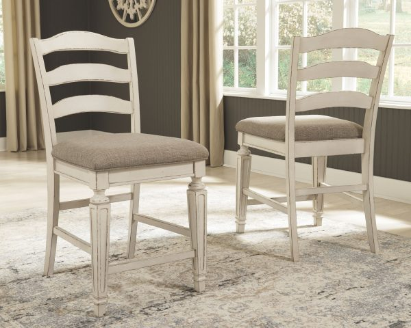 Realyn - Two-tone - 5 Pc. - DRM Counter EXT Table & 4 UPH Barstools 3