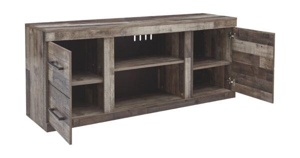 Derekson - Multi Gray - LG TV Stand w/Fireplace Option 1