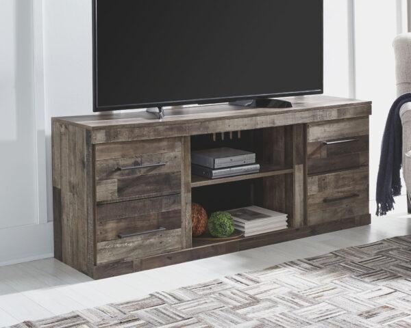 Derekson - Multi Gray - Entertainment Center - LG TV Stand with Fireplace Insert Infrared 2