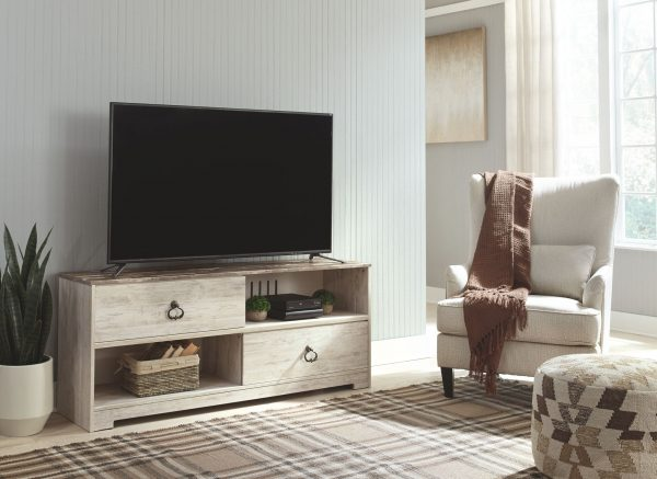Willowton - Whitewash - Large TV Stand