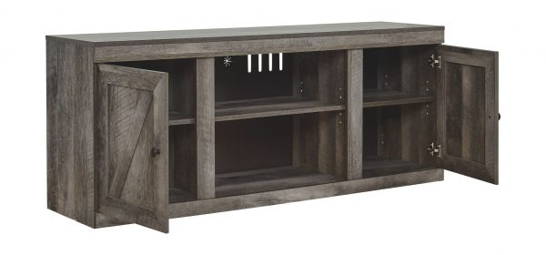 Wynnlow - Gray - LG TV Stand w/Fireplace Option 2