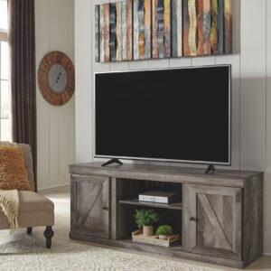 Wynnlow - Gray - LG TV Stand w/Fireplace Option