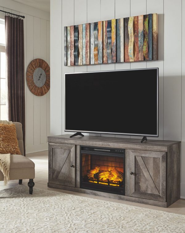 Wynnlow - Gray - LG TV Stand w/Fireplace Option 4