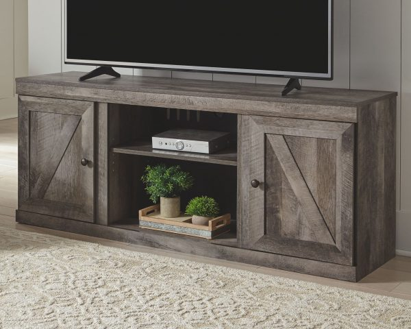 Wynnlow - Gray - LG TV Stand with Fireplace Insert Infrared 2