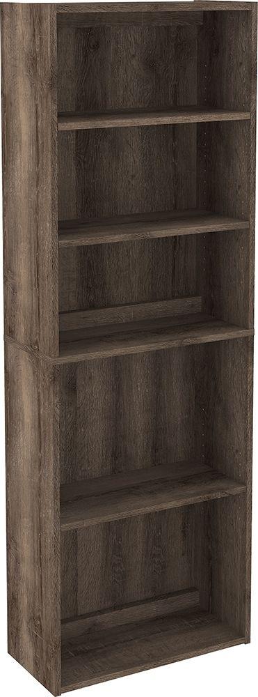 Arlenbry - Gray - L-Desk with Storage, Bookcase & Swivel Desk Chair 2