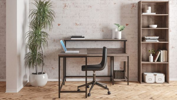 Arlenbry - Gray - L-Desk with Storage & Swivel Desk Chair 4