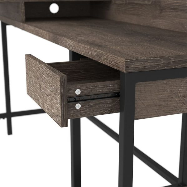 Arlenbry - Gray - L-Desk with Storage & Swivel Desk Chair 3